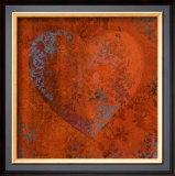 Cuore Orange Posters by Roberta Ricchini
