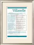 Poetry Forms - Villanelle Posters
