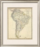 South America, c.1842 Framed Giclee Print