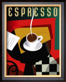 Cubist Espresso Prints by Eli Adams