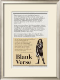 Poetry Forms - Blank Verse Prints