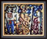 Composition aux Deux Perroquets, c.1935 Art by Fernand Leger