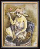 Jeune Fille a la Rose, c.1923 Prints by Otto Dix