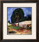 Summer Night at Asgarstrand Framed Giclee Print by Edvard Munch