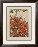 Floral Field Print by Egon Schiele