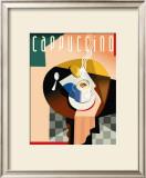 Cubist Cappuccino Print by Eli Adams