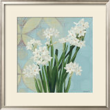 Paperwhites on Blue II Posters by Katherine Lovell