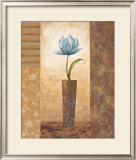 Brazen Blue Tulip Posters by  Nan