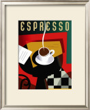 Cubist Espresso Posters by Eli Adams