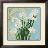 Paperwhites on Blue II Prints by Katherine Lovell