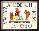 Alphabet Block Bears Posters by Marnie Bishop Elmer