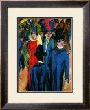 Street Scene in Berlin Framed Giclee Print by Ernst Ludwig Kirchner