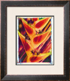 Heliconia Framed Giclee Print by Joanne Bolton