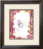 Color Melody: Lively Town, Lots of Conversations and Happiness Framed Giclee Print by Kyo Nakayama
