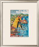 United Airlines, New England Framed Giclee Print by Joseph Feher