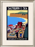 Salturn-By-The-Sea, LNER Poster, 1923-1929 Framed Giclee Print by Henry George Gawthorn