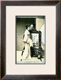 Two Japanese Geisha in Council Framed Giclee Print