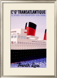 Transatlantique Framed Giclee Print by Paul Colin
