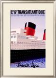Transatlantique Framed Giclee Print by Paul Colin