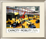 Capacity/Mobility on the LNER, LNER Poster, 1933 Framed Giclee Print by Henry George Gawthorn