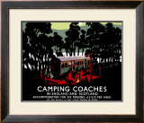 Camping Coaches Framed Giclee Print by Tom Purvis