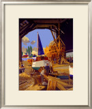 Boatbuilding Framed Giclee Print by Frank Mason
