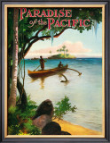 Paradise of Pacific, Outrigger Framed Giclee Print