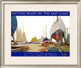Getting Ready on the East Coast Framed Giclee Print by Frank Mason