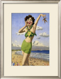 whitley Bay, BR Poster, 1948-1965 Framed Giclee Print by Arthur C Michael