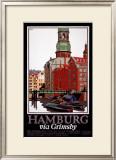 LNER, Hamburg via Grimsby, c.1927 Framed Giclee Print by Frank Newbould
