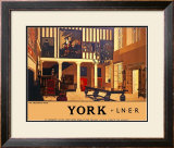 York, The Treasurers House Framed Giclee Print by Fred Taylor