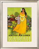 United Airlines, Lei Offering Framed Giclee Print