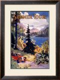 Summer Tours, Union Pacific Railroad Framed Giclee Print