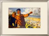 Whitley Bay Framed Giclee Print by Arthur C Michael