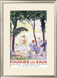 Pougues-les-Eaux Framed Giclee Print by F. Jonas