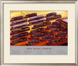 British Railways Locomotives, BR Poster, circa 1950s Framed Giclee Print by A N Wolstenholme