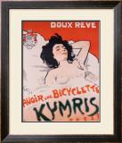 Bicyclette Kymris, Doux Reve Framed Giclee Print by Jules-Alexandre Grün
