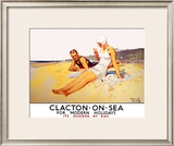 Clacton-on-Sea Framed Giclee Print by Septimus Scott