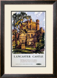 Lancaster Castle, British Rail, c.1950 Framed Giclee Print by Kenneth Steel