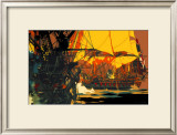 Yorkshire Coast Framed Giclee Print by Frank Mason
