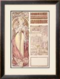 Osterreich, Paris, 1900 Framed Giclee Print by Alphonse Mucha