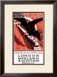 Scotland, Straight as the Crow Flies Framed Giclee Print by Norman Howard
