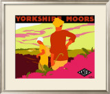 Yorkshire Moors Framed Giclee Print by Gwen Raverat