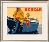 Redcar Framed Giclee Print by Frank Newbould
