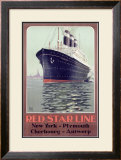 Red Star Oceanliner Framed Giclee Print