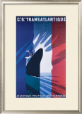 Cie Gle Transatlantique Framed Giclee Print by Paul Colin
