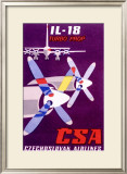CSA Czech Il 18 Turbo Prop Airline Framed Giclee Print