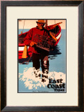 The Lobsterman, LNER Poster, 1923-1947 Framed Giclee Print by Frank Newbould