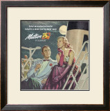 Couple in Moonlight, Matson to Hawaii Framed Giclee Print