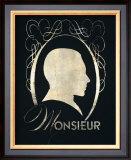 Monsieur Silhouette Print by Lisa Vincent